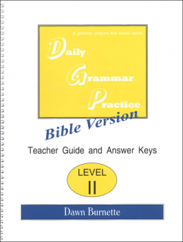 Daily Bible Grammar Practice: Bible II Teacher Guide