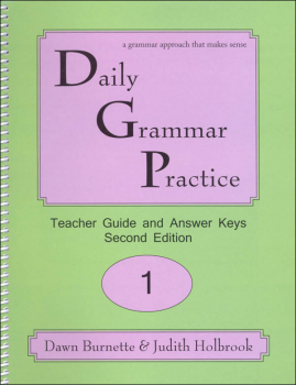 Daily Grammar Practice Teacher Guide Grade 1