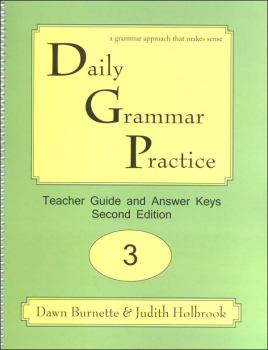 Daily Grammar Practice Teacher Guide Grade 3