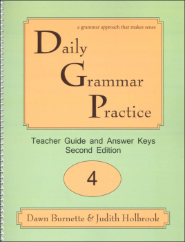 Daily Grammar Practice Teacher Guide Grade 4