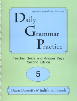 Daily Grammar Practice Teacher Guide Grade 5