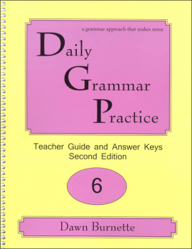 Daily Grammar Practice Teacher Guide Grade 6