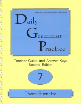 Daily Grammar Practice Teacher Guide Grade 7