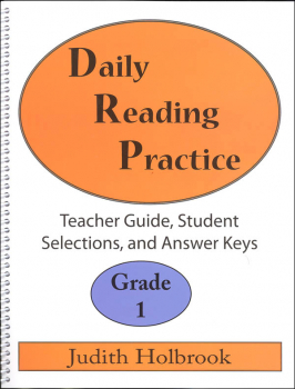 Daily Reading Practice Teacher Guide Grade 1