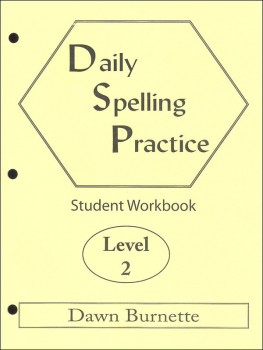 Daily Spelling Practice Level 2 Student Workbook