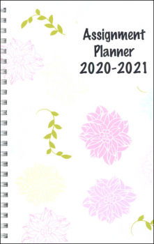 Student Assignment Planner Flowers Design August 2020 - August 2021