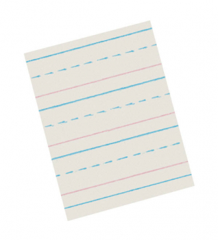 "Zaner-Bloser Broken Midline Newsprint Paper Ream (3/8"" Ruled Short)"