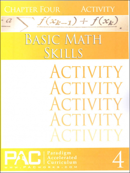Basic Math Skills: Chapter 4 Activities