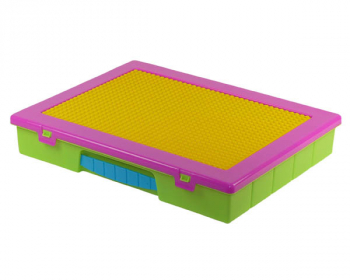Block 'n' Go Large Organizer Case with Plate - Multi Brite
