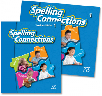 Zaner-Bloser Spelling Connections Grade 1 Home School Bundle - Student Edition/Teacher Edition (2012 edition)