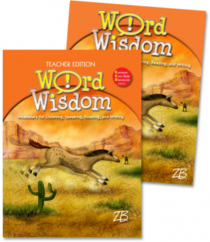 Zaner-Bloser Word Wisdom Grade 4 Home School Bundle - Student Edition/Teacher Edition (2013 edition)
