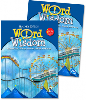 Zaner-Bloser Word Wisdom Grade 6 Home School Bundle - Student Edition/Teacher Edition (2013 edition)