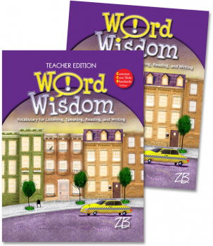 Zaner-Bloser Word Wisdom Grade 8 Home School Bundle - Student Edition/Teacher Edition (2013 edition)