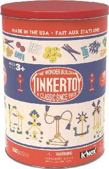 Tinkertoy Classic Building Tin (100 Pieces)