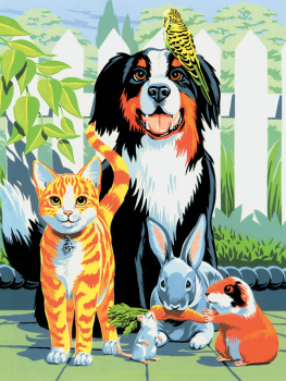 Painting By Numbers - Family Pets (Junior Small)