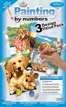 Painting By Numbers - Junior Small Dogs (3 Design Value Pack)