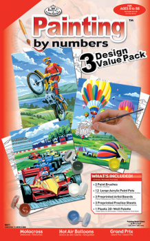 Painting By Numbers - Junior Small Outdoors (3 Design Value Pack)