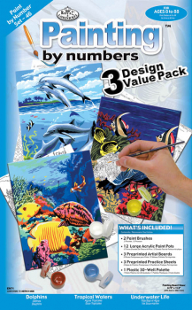 Painting By Numbers - Junior Small Sea Life (3 Design Value Pack)