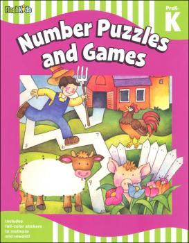 Number Puzzles & Games: Grade PreK-K (Flash Skills)
