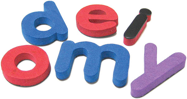 Magnetic Foam Letters: Small Lowercase