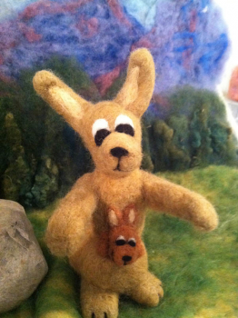 Kangaroo Beginner Felting Kit