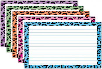 "Border Index Cards - Lined Moroccan Assorted 3"" x 5"" (75 count)"