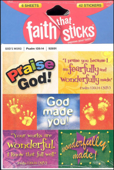 Psalm 139:14 Stickers (Faith That Sticks)