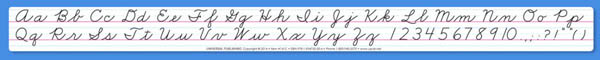 Universal Handwriting Cursive Desk Strip