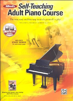 Alfred's Self-Teaching Adult Piano Course Book & CD