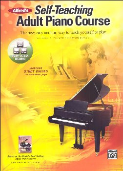 Alfred's Self-Teaching Adult Piano Course Book, CD & DVD