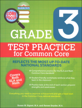 Test Practice for Common Core Grade 3 (Barron's Core Focus Workbook)