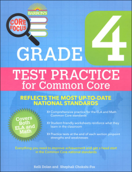 Test Practice for Common Core Grade 4 (Barron's Core Focus Workbook)