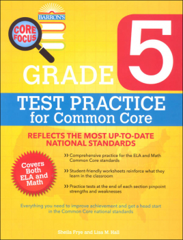 Test Practice for Common Core Grade 5 (Barron's Core Focus Workbook)