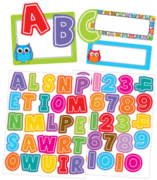 Colorful Owls (Labels and Letters Stickers)