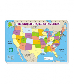 U.S. Map - Labeled (Jumbo Map Pads)