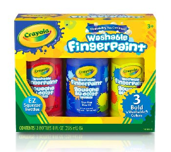 Crayola Washable Bold Fingerpaints - Primary Colors 3-pack 8 oz.