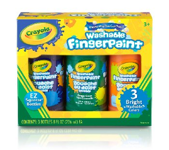 Crayola Washable Bright Fingerpaints - Secondary Colors 3-pack 8 oz.