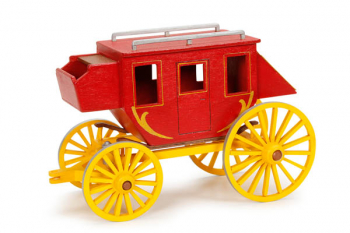 Stagecoach Premium Wood Model Kit