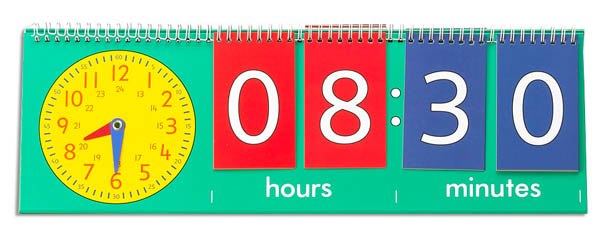 Tell Time Flip Chart Student Size