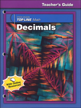 Top Line Math: Decimals Teacher