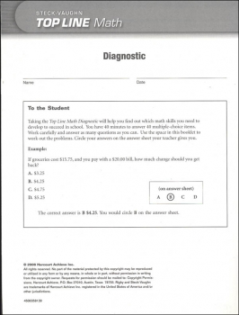Top Line Math: Diagnostic Test