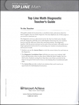 Top Line Math: Diagnostic Teacher Guide