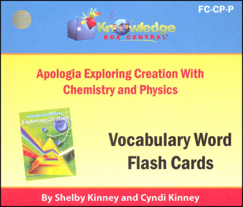 Apologia Exploring Creation with Chemistry & Physics Vocabulary Flashcards (Printed)