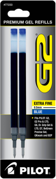 G2 Ink Refills - Extra Fine Point - Blue (2 pack)