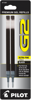 G2 Ink Refills - Ultra Fine Point - Black (2 pack)