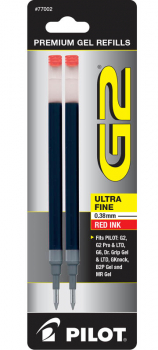 G2 Ink Refills - Ultra Fine Point - Red (2 pack)