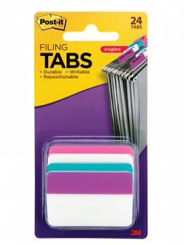 "Post-It Filing Tabs: 2"" Solid assorted colors (4 colors)"