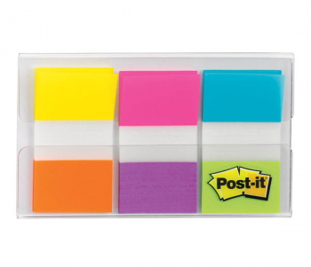 "Post-It Flags - 60 Flags/Dispenser 1"" (Assorted Bright Colors)"
