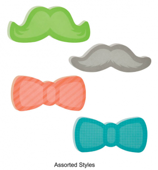 "Post-It Super Sticky Notes - 1 Pack of Moustache or Bowtie (3"" x 3"")"