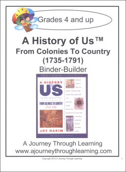 History of US Binder Builder Book 3 - From Colonies to Country Printed